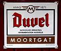 Duvel Moortgat, emaille reclamebord, Bier Reclamemuseum.JPG