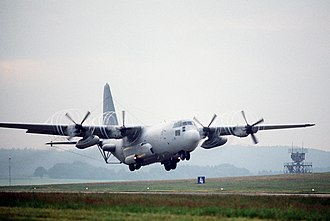 65th Air Division - an EC-130H of the division's 66th Electronic Combat Wing landing at Sembach AB
