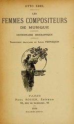 Otto Ebel: Les femmes compositeurs de musique