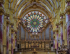 Ebrach Kirche rose window Orgel P4252411efs.jpg