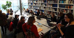 Contributrices à l'œuvre pendant l'Editathon - Photo X-Javier - CC-BY-SA