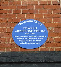 Edward ardizzone blue plaque