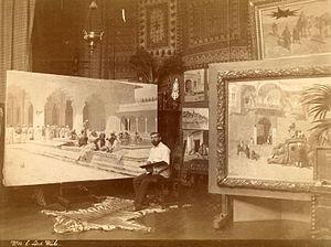 Edwin Lord Weeks - Edwin Lord Weeks in his studio.