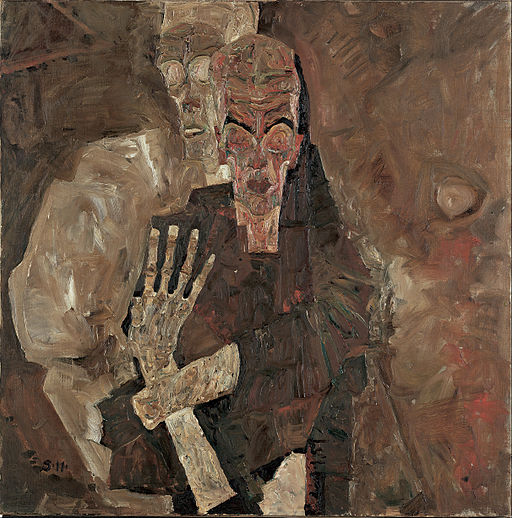 Egon Schiele - Self-Seer II (Death and Man) - Google Art Project