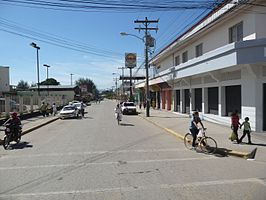 Straatbeeld in El Progreso