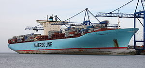 MS Eleonora Maersk container ship (at Gdańsk D...