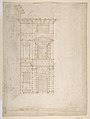 Elevation of Giulio Romano's House (recto); the Ruins from the Caelius Aqueduct and Temple of Claudius in Rome (verso) MET DP810760.jpg