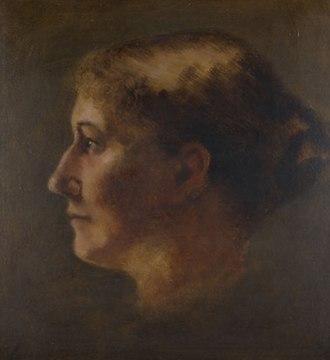 Elizabeth Coffin - Image: Elizabeth Rebecca Coffin, Small Head in Profile (Portrait of Mary Eliza Starbuck), circa 1890