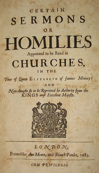 The Books of Homilies - Title page of the 1683 reprinted edition