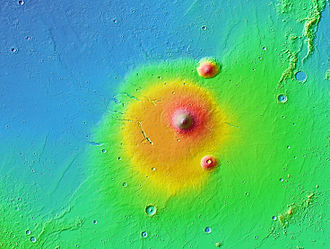 Elysium (volcanic province) - Image: Elysium MOLA zoom 64