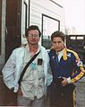 "Emilio Estevez and David Librace on the set of ""Freejack"".jpeg"
