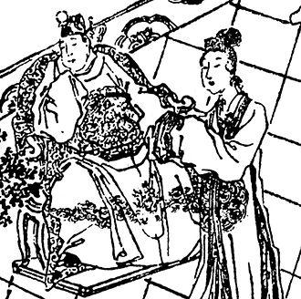 Fu Shou - A Qing dynasty illustration of Empress Fu Shou (right) and Emperor Xian