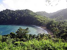A view of Englishman's Bay on the island of Tobago.