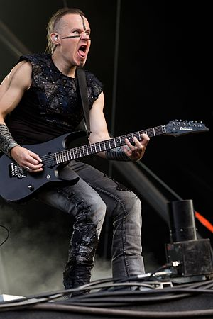 Ensiferum - Guitarist Markus Toivonen at Rockharz 2016