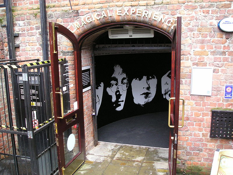 Liverpool, England - The Beatles Story museum entrance