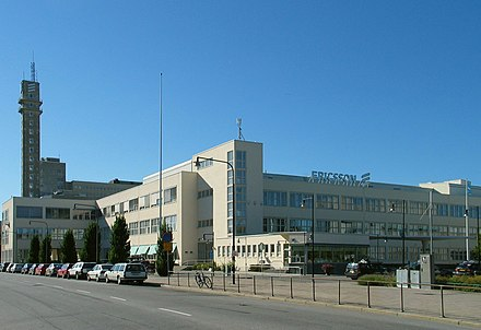 LM Ericsson's former headquarters at Telefonplan in Stockholm, see LM Ericsson building Ericsson telefonplan 20050902 001.jpg