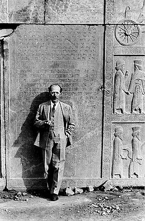 Ernst Herzfeld - Ernst Emil Herzfeld at Perspolis, Iran