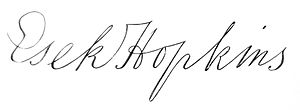Esek Hopkins - Image: Esek Hopkins signature