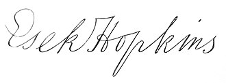 Esek Hopkins - Image: Esek Hopkins signature
