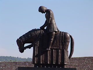 Equestrian statue of Francis of Assisi