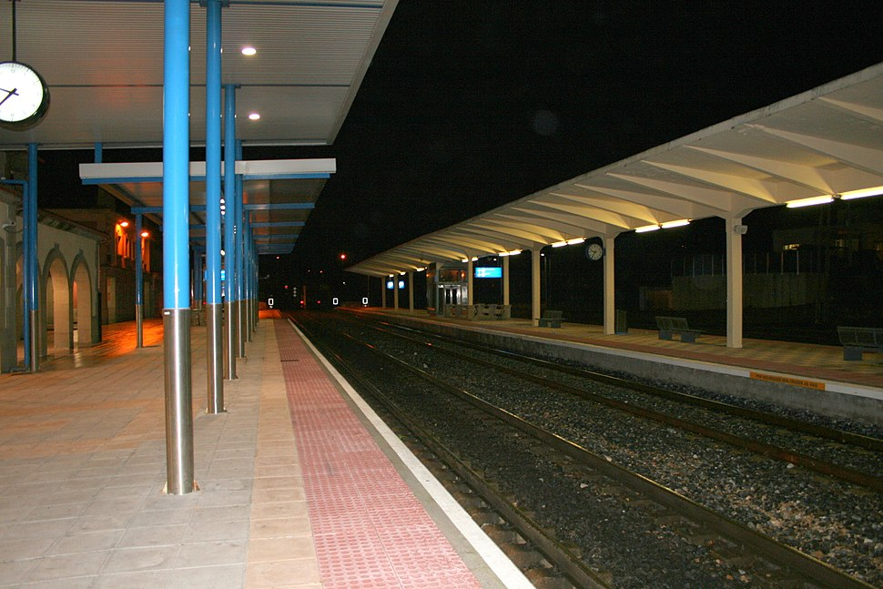 Estación de tren de Vilagarcía de Arousa (de noite)