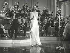 Ethel Merman with Tyrone Power in a trailer for Alexander's Ragtime Band (1938)