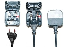 ac power plugs and sockets british and related types bs 1363 5 13 a fused conversion plugs edit