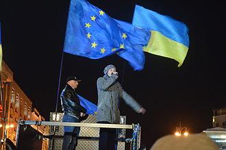 European Union–Ukraine relations - Euromaidan pro-EU protesters in Kiev, December 2013