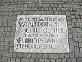 Europe Arise plaque Winston Churchill.JPG