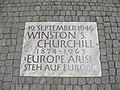 Europe Arise plaque Winston Churchill.JPG