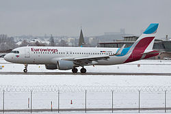 Airbus A320 der Eurowings