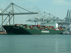 Ever Delight p3, at the Amazone harbour, Port of Rotterdam, Holland 18-Jun-2006.jpg