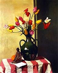 Tulipes et statuette de Maillol