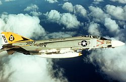 F-4J Phantom II of VF-92 in flight in 1973.jpg