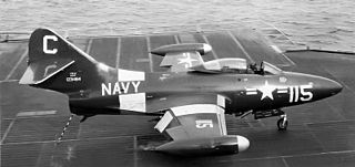 Grumman F9F Panther carrier-based fighter aircraft series
