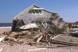 Hurricane Fran - A home destroyed by Fran along the North Carolina coastline