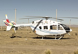 Bolivian Air Force - A Bolivian Eurocopter EC145