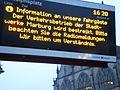 Fahrgastinformation zum Busfahrer-Streik mit Info für Fahrgäste der Verkehrsbetriebe der Stadtwerke Marburg an Bushaltestelle Rudolphsplatz und Bitte um Verständnis 2017-01-09.jpg