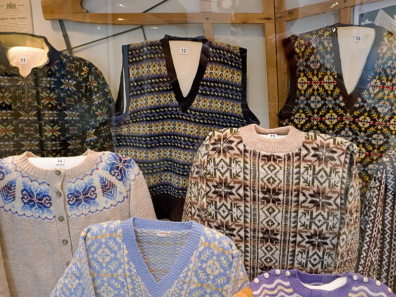 File:Fair Isle knitwear geograph-3936603-by-Julian-Paren.jpg