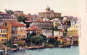 Ottoman Greece - View of the Phanarion quarter,  the historical centre of the Greek community of Constantinople in Ottoman times, ca. 1900