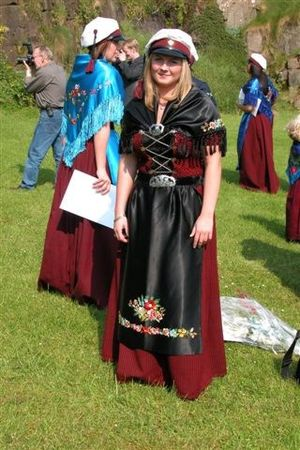Demographics of the Faroe Islands - Faroese student in national costume.