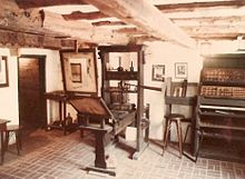 A Gutenberg press replica at the Featherbed Alley Printshop Museum, in Bermuda (Source: Wikimedia)