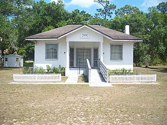 National Register of Historic Places listings in Indian River County, Florida - Image: Fellsmere FL Fell Library 01