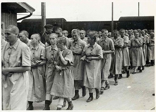 Female prisoners at Birkenau