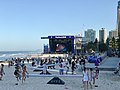 Festival 2018 stage at the Surfers Paradise beach, Queensland during 2018 Commonwealth Games.jpg