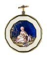 Fickur med boett av guld med miniatyrmålning i emalj, 1780 - Hallwylska museet - 110460.tif