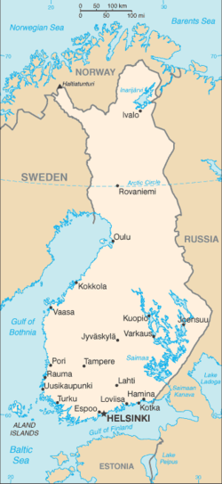 List Of Cities And Towns In Finland Wikipedia - Map of cities in norway