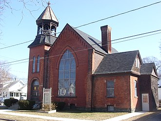 National Register of Historic Places listings in Schuyler County, New York - Image: First Baptist Church of Watkins Glen Mar 09