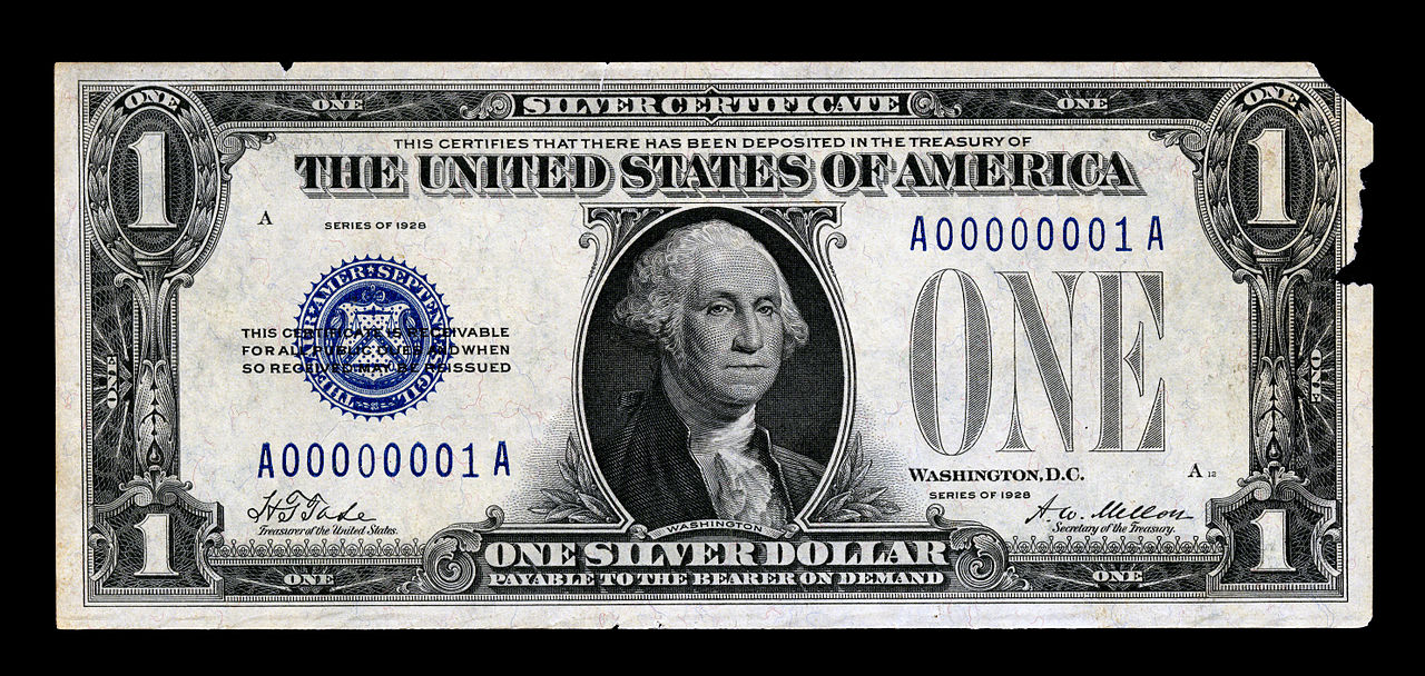 File First Small Size Silver Certificate Face 1928 Jpg