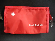 First aid kit drar till usa
